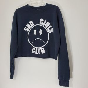 Nikki Lipstick Black Cropped Sad Girls Club